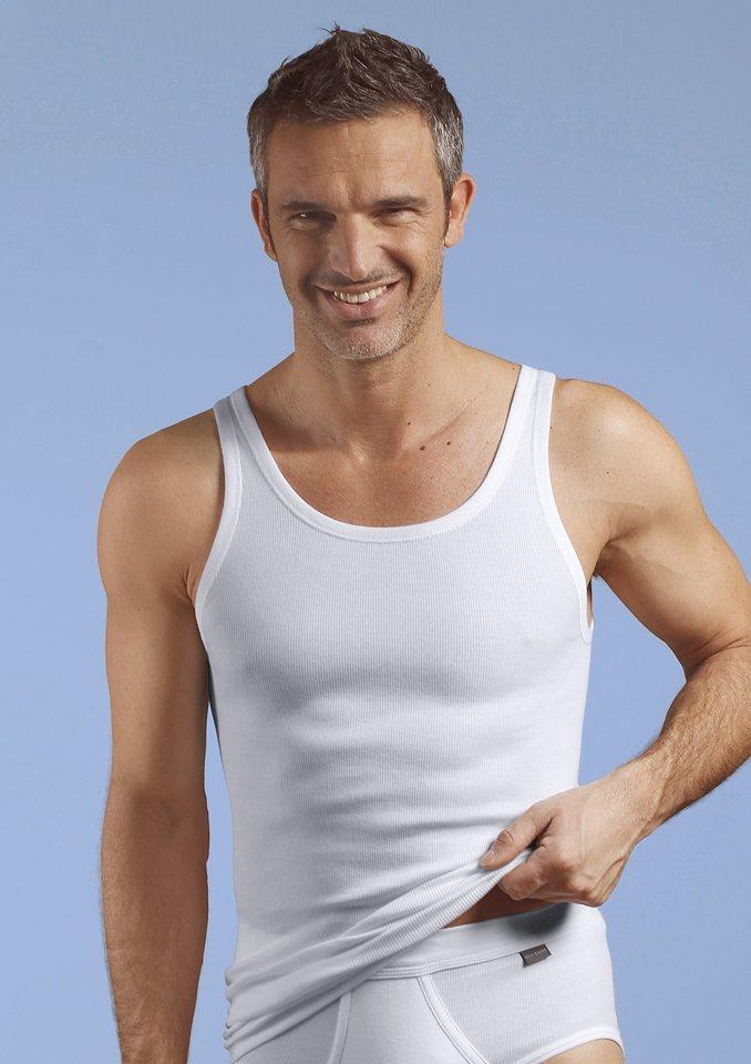 Unterhemd, Schiesser (2 Stck.) in Feinripp weiß