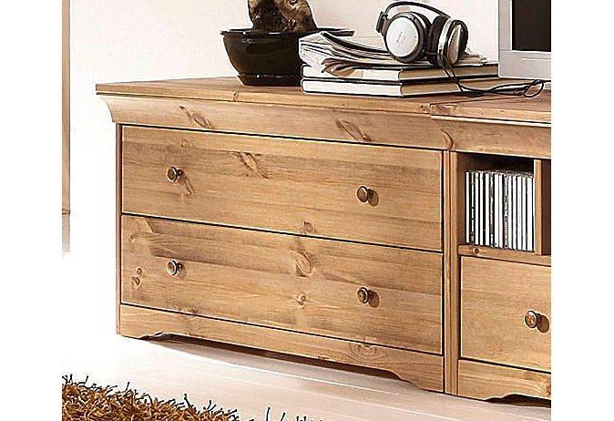 Lowboard, mit 2 Schubkästen, Home affaire, Breite 90 cm, Belastbarkeit bis 50 kg in gebeizt/geölt