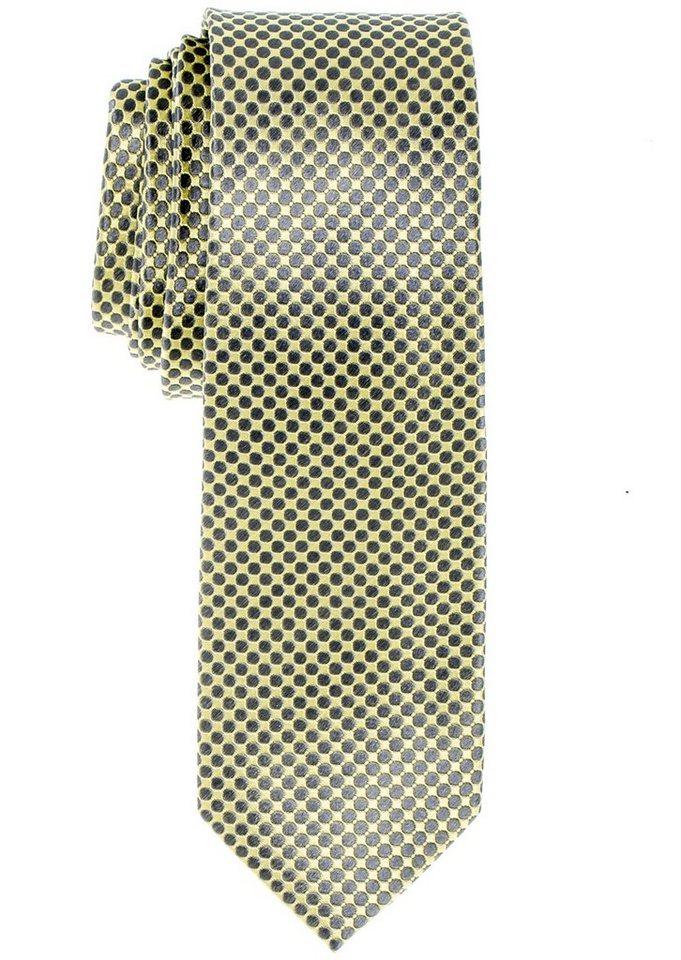 ETERNA Krawatte »schmal« in gelb