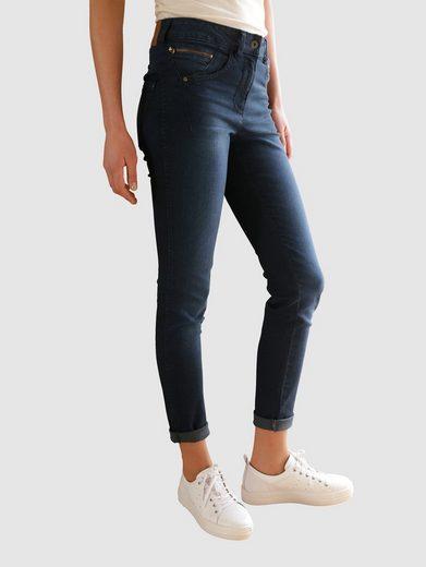 Dress In Skinny-fit-Jeans mit aufgesetzten Reißverschlüsse