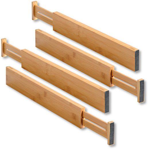 KESPER for kitchen & home Schubladeneinsatz (Set, 4 Stück), variabele Länge