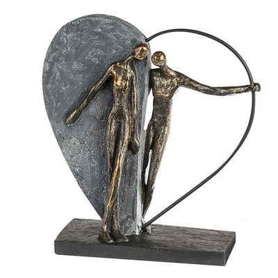 Brillibrum Dekofigur »Design Herz Skulptur Kunststein Bronze Dekofigur der Freundschaft & Liebe aus Polystone Liebespaar Hochzeitsgeschenk Herzfigur Skulptur Couple Love«