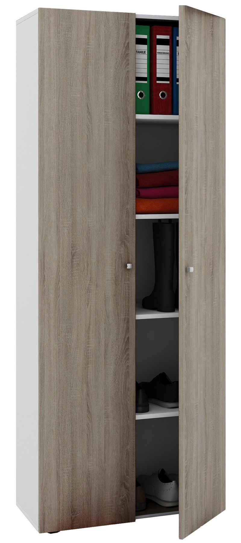 VCM Aktenschrank »Holz Mehrzweckschrank Vandol mit Drehtüren«