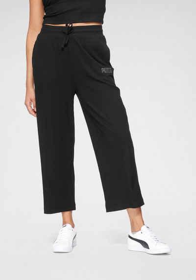 PUMA Sporthose »Modern Basics Ribbed Wide Pants«