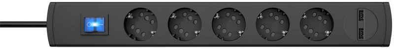 Kopp »DUOv.5f.m.Sch.anth1,4USB« Steckdosenleiste 6-fach (Ein- / Ausschalter, Schalterbeleuchtung, USB-Anschluss, Kindersicherung, Schutzkontaktstecker, Kabellänge 1,4 m)