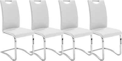 MCA furniture Freischwinger »Köln« (Set, 4 Stück), Kunstlederbezug mit Griffloch, Komfortsitzhöhe, Stuhl belastbar bis 120 kg