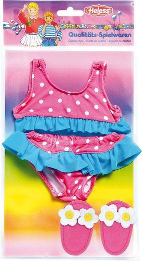 Heless Puppenkleidung »Bikiniset mit Badeschläppchen, Gr. 35-45 cm«