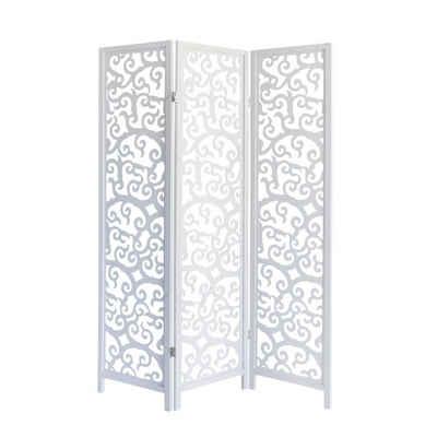 Homestyle4u Paravent, Sichtschutz, Spanische Wand, weiß, verschiedene Größen