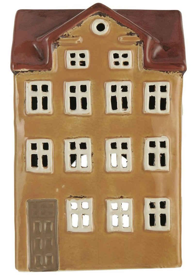 Ib Laursen Kerzenhalter »Lichterhaus Teelichthalter Teelichthaus Windlicht Haus H 21cm Ib Laursen 2765-03«
