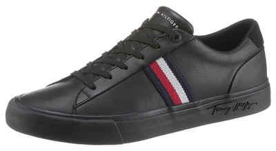 Tommy Hilfiger »CORPORATE LEATHER SNEAKER« Sneaker mit seitlichen Streifen