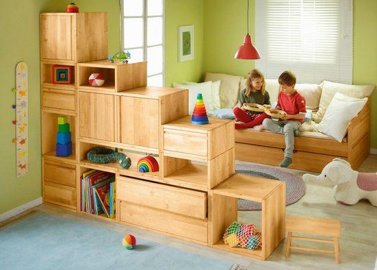 BioKinder - Das gesunde Kinderzimmer Regalwürfel »Laura«, Regalwürfel Regalelement Erle, offen