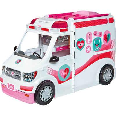 Mattel® Anziehpuppe »Barbie Krankenwagen 2-in-1 Spielset mit Licht &«
