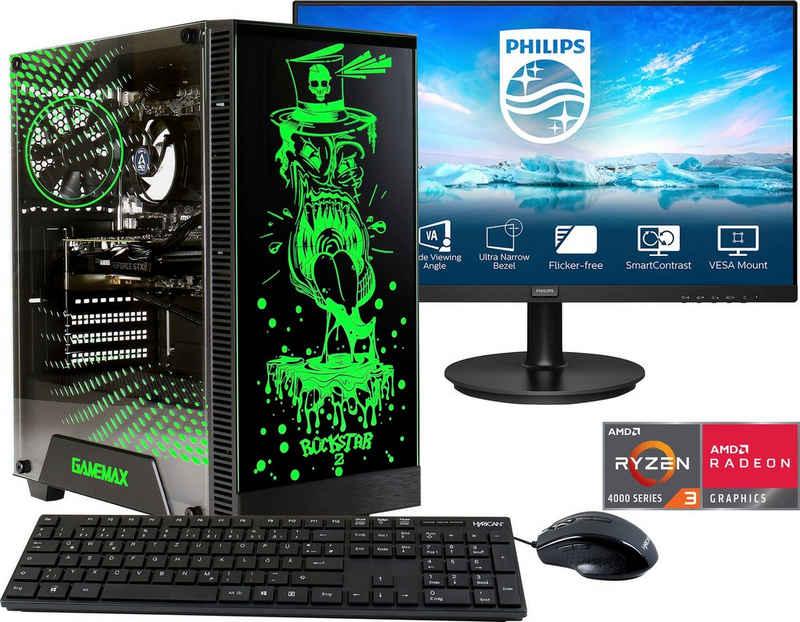 "Hyrican Rockstar SET02067 Gaming-PC-Komplettsystem (23,8"", AMD Ryzen 3, 16 GB RAM, 960 GB SSD, 2-tlg)"