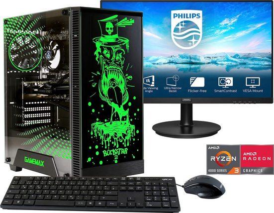 Hyrican »Rockstar SET02067« Gaming-PC-Komplettsystem (23,8 Zoll, AMD Ryzen 3, 16 GB RAM, 960 GB SSD, 2-tlg)