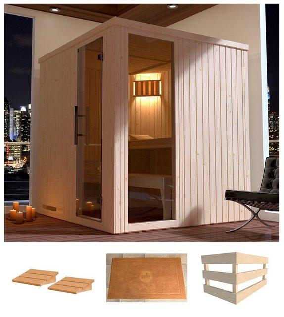 Saunen und Zubehör - weka Sauna »Halmstad 2«, BxTxH 194 x 177 x 199 cm, 68 mm, ohne Ofen  - Onlineshop OTTO