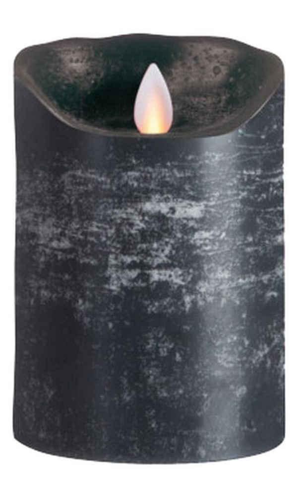 SOMPEX LED-Kerze »Flame LED Kerze anthrazit 12,5cm« (Kerze), integrierter Timer, Echtwachs, täuschend echtes Kerzenlicht, Fernbedienung separat erhältlich