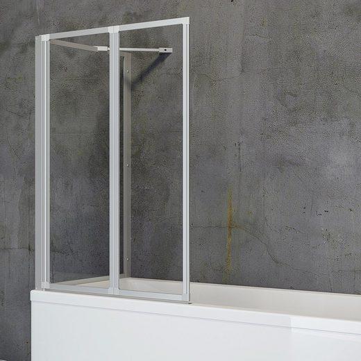 Schulte Badewannenfaltwand »Komfort«, Einscheibensicherheitsglas, (Komplett-Set, 2 tlg), zum Kleben oder Bohren