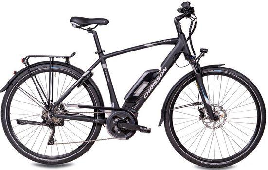 Chrisson E-Bike »E-ACTOURUS Herren«, 10 Gang Shimano Deore RD-T6000-SGS Schaltwerk, Kettenschaltung, Mittelmotor 250 W