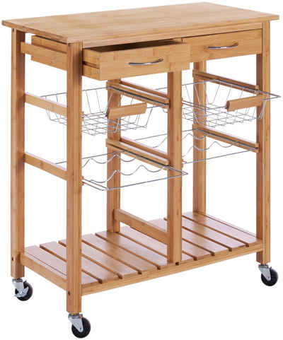 Küchenwagen »Bambus«, (1 St), 72 x 37 x 78 cm