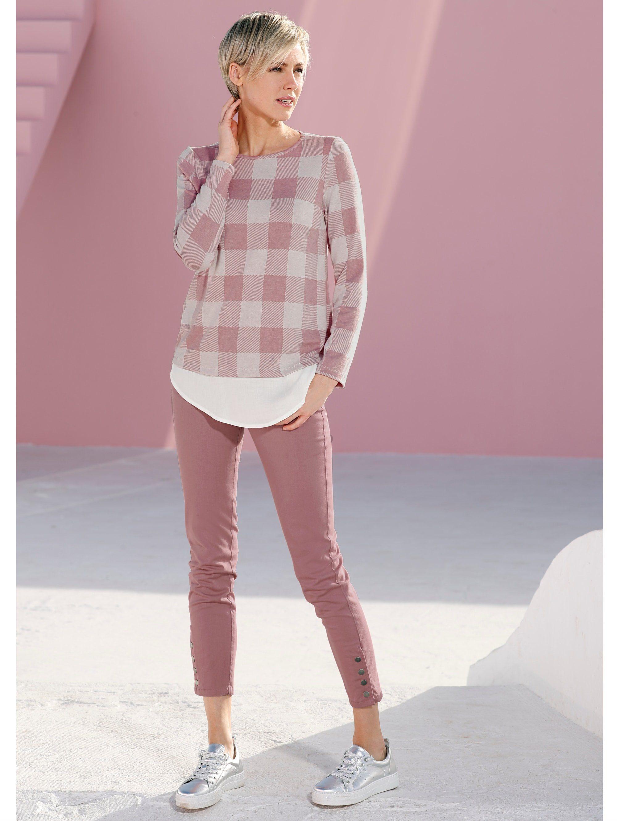 Laura Kent Shirt Mit Bluseneinsatz Online Kaufen