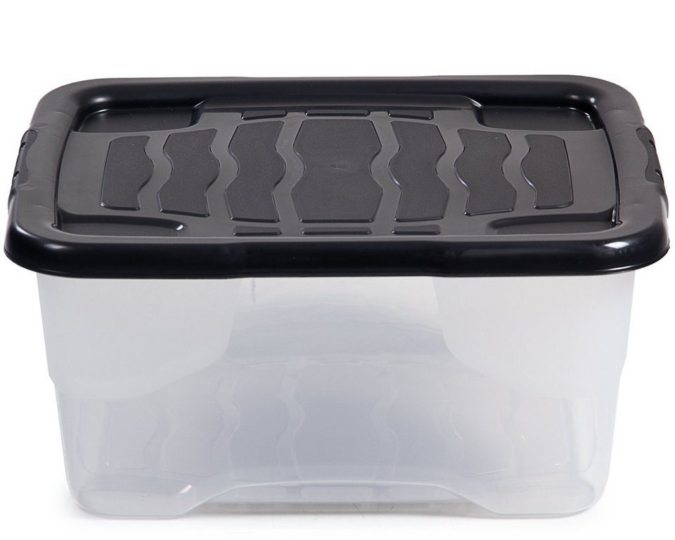 Kunststoff Box mit Deckel 40 x 30 x 27,5 cm Aufbewahrungsbox 23 Liter Lagerbox