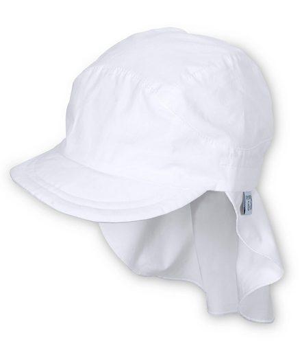 Sterntaler® Schirmmütze Schirmmütze mit Nackenschutz weiß LSF 50+