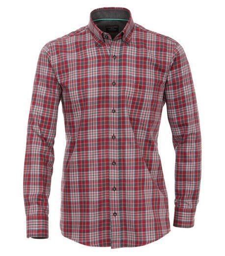CASAMODA Langarmhemd »Kariertes Twill Hemd« Button-down