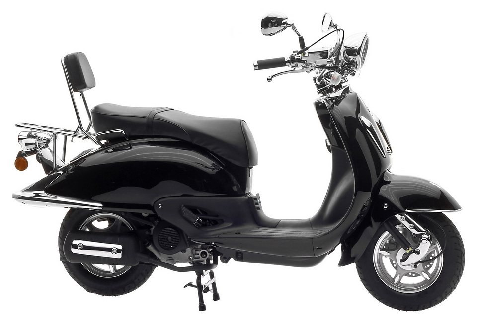 Motorroller, Nova Motors, »Milano 125«, 125 ccm 80 km/h, schwarz in schwarz