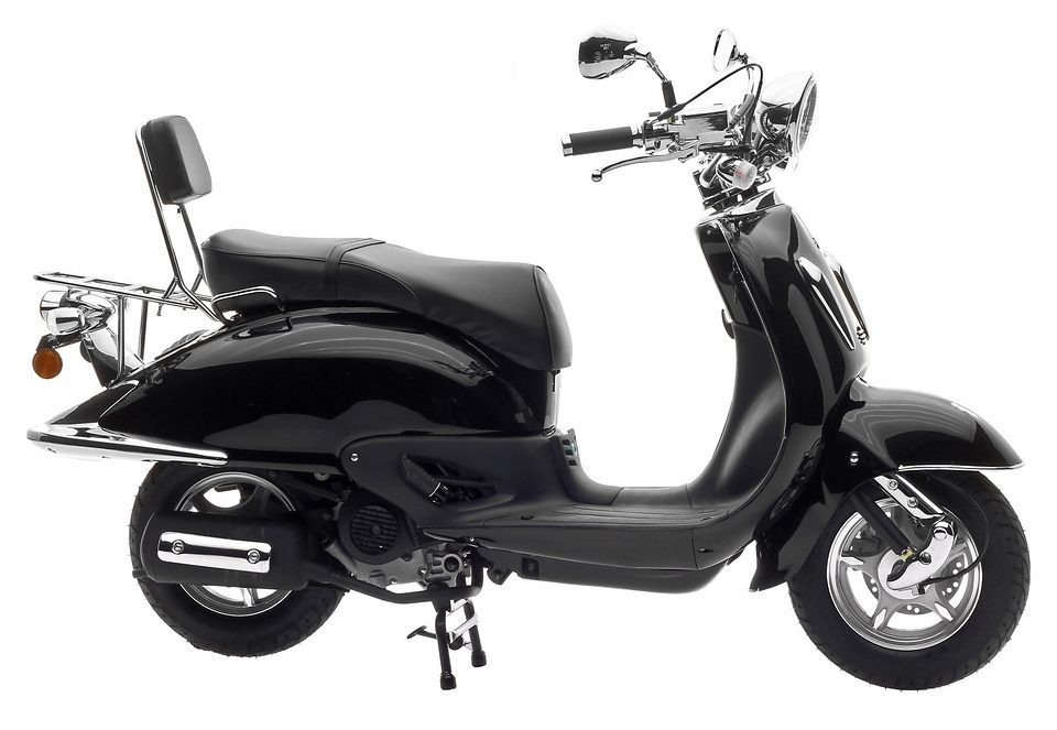 Motorroller, Nova Motors, »Milano 125«, 125 ccm 80 km/h, schwarz