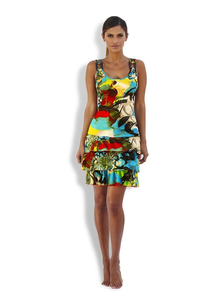 Kleid in bunt