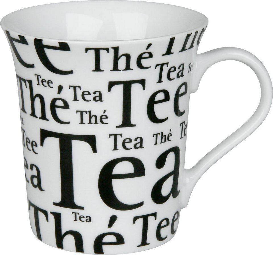 Könitz Tee Schrift auf Weiß in Bunt