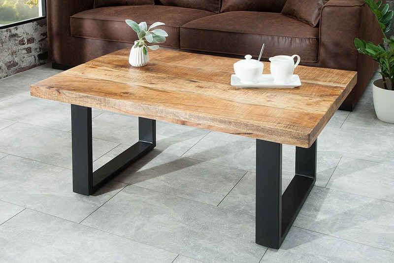riess-ambiente Couchtisch »IRON CRAFT 100cm natur«, Wohnzimmer · Massivholz · Metall · eckig · Industrial Design