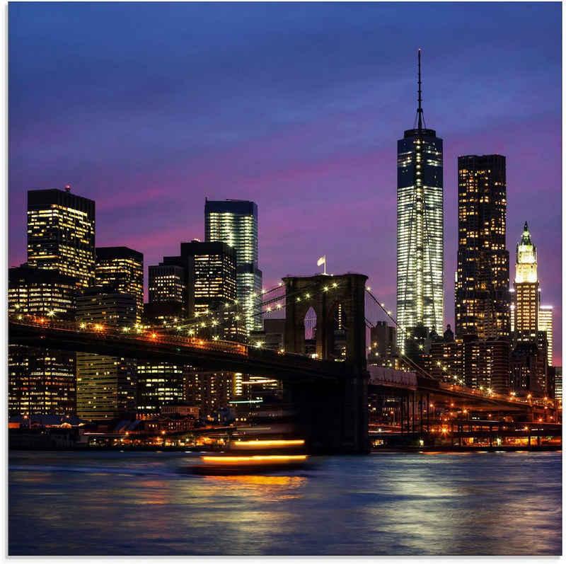 Artland Glasbild »Brooklyn Bridge«, Amerika (1 Stück)