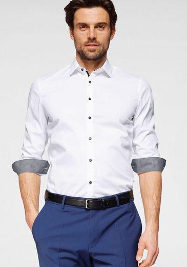 OLYMP Businesshemd »No. Six super slim« super slim, Comfort Stretch, bügelleicht