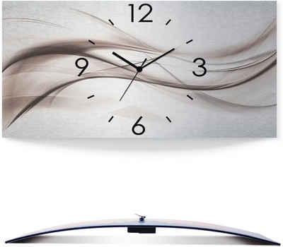 Artland Wanduhr »Abstraktes Design - schöne Welle« (3D Optik gebogen, silber-metallic, lautlos, ohne Tickgeräusche, nicht tickend, geräuschlos - wählbar: Funkuhr o. Quarzuhr, moderne Uhr für Wohnzimmer, Küche etc. - Stil: modern)