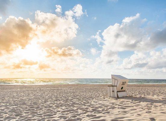 living walls Fototapete »Designwalls Beach Chair«, glatt, (5 St)