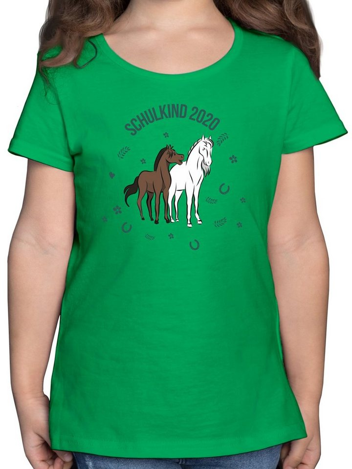 shirtracer -  T-Shirt »Schulkind 2020 Pferde - Mädchen Kinder T-Shirt - T-Shirts« Einschulung und Schulanfang