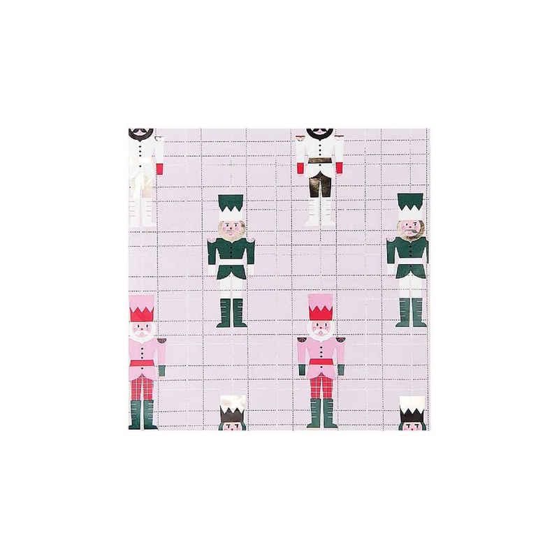 Rico Design Geschenkpapier »Geschenkpapier, Nussknacker, Rosa«