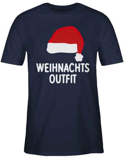 Shirtracer T-Shirt »Weihnachtsoutfit mit Weihnachtsmütze - Weihnachten & Silvester - Herren Premium T-Shirt«