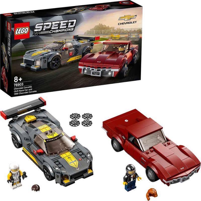 LEGO® Konstruktionsspielsteine »Chevrolet Corvette C8.R & 1968 Chevrolet Corvette (76903), LEGO® Speed Champions«, (512 St), Made in Europe