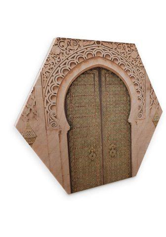 Wall-Art Holzbild »Marokkanische durys Holzbild...