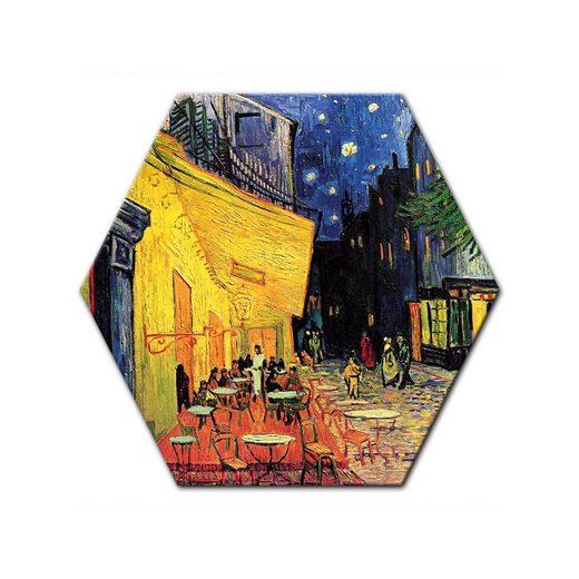 Bilderdepot24 Leinwandbild, Leinwandbild - Vincent van Gogh - Caféterrasse am Abend