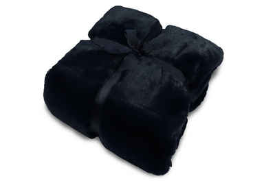 Wohndecke, jilda-tex, schwere, hochwertige und warme Fellimitat-Decke