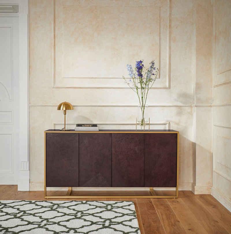 Guido Maria Kretschmer Home&Living Sideboard »Comfono«, Viel Stauraum, Füße aus Metall