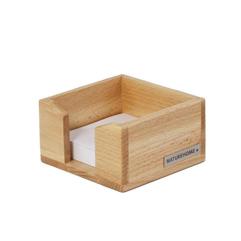 NATUREHOME Zettelkasten »ECO Zettelbox Buche, 11,5 x 11,5 x 6,5 cm«