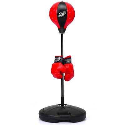 COSTWAY Boxsack »Punchingball, Kinder Boxset, Standboxsack«, hoehenverstellbar, inkl. Boxhandschuhe und Handpumpe, für Kinder und Jugend