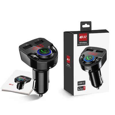 7Magic »Bluetooth FM Transmitter Auto MP3 Player« KFZ-Transmitter Bluetooth 5.0 zu USB-C, KFZ Radio Audio Adapter Ladegerät Freisprechanlage