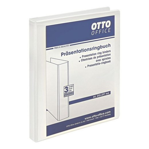 OTTOOFFICE STANDARD Präsentationsringbuch 2 Ringe, A4, Rückenbreite 33 mm