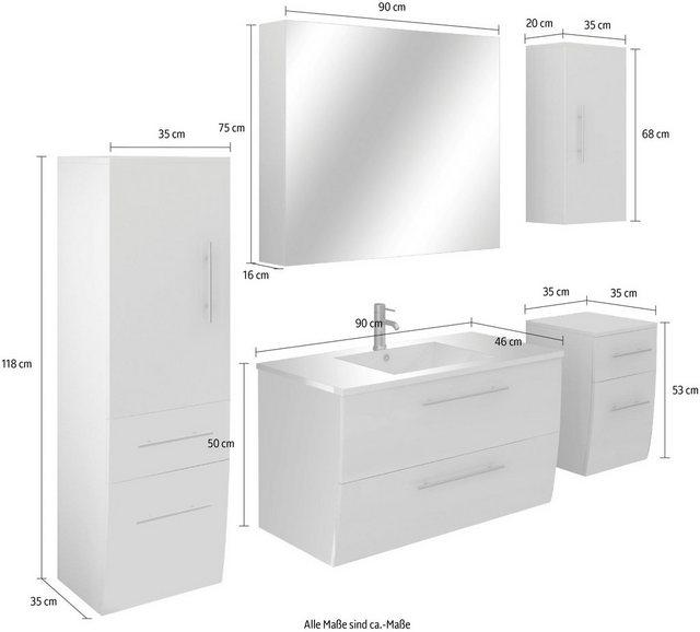 Badezimmer Sets - SalesFever Badmöbel Set »389706«, (5 St)  - Onlineshop OTTO