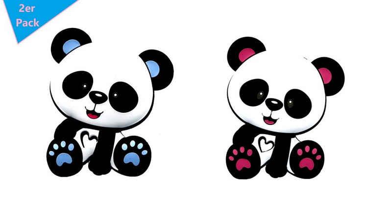 LIMDIX Beißring »Panda Bär Baby Beißring aus Silikon BPA-frei - Zahnungshilfe - 2er PACK«